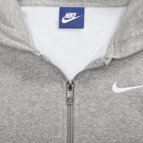 Nike Sportswear Kids' Full-Zip Hoodie - Grey Image 4