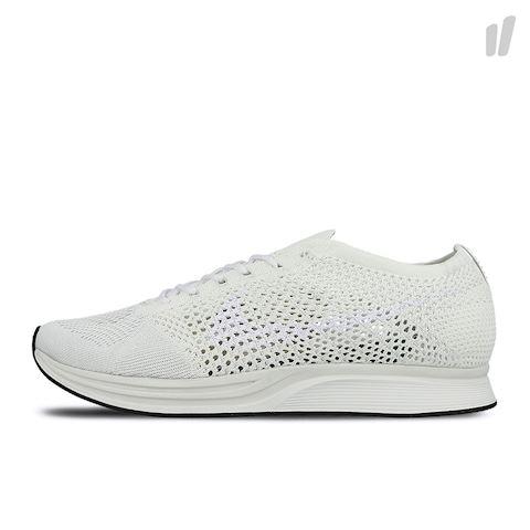Nike Flyknit Racer Unisex Running Shoe - White Image