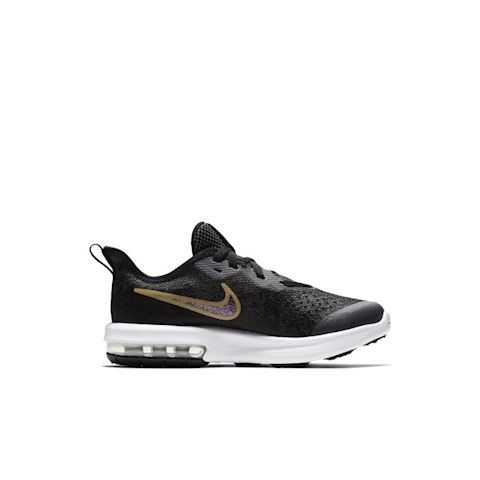 Nike Air Max Sequent 4 Shine Younger Kids' Shoe - Black Image 3