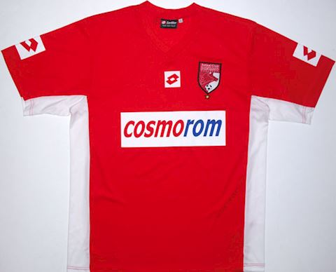 Lotto Dinamo Bucharest Mens SS Home Shirt 2002/03 Image