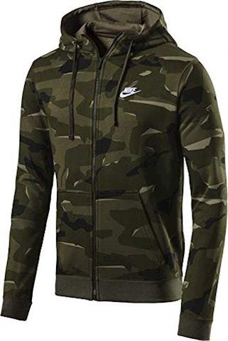 Nike Sportswear Club Fleece Men's Full-Zip Camo Hoodie - Olive Image