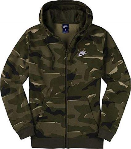 Nike Sportswear Club Fleece Men's Full-Zip Camo Hoodie - Olive Image 3