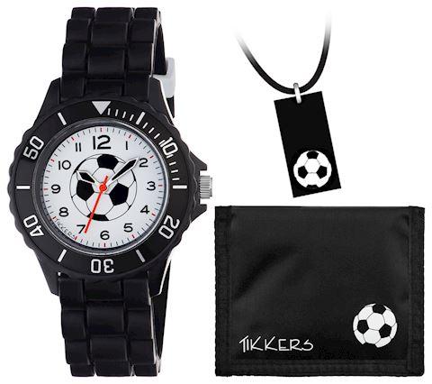 Tikkers - Boys Black Football - Watch Set Image